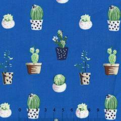 Tricoline Vasos de Cactos - Azul Royal