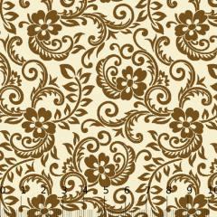 Tricoline Floral Arábico - Dourado