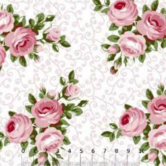 Tricoline Floral La Mor Buquê - Rosa