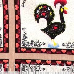 Tricoline Galo Português Mosaico - Marrom