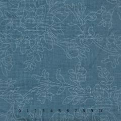 Tricoline Floral Pontilhados - Azul Marinho