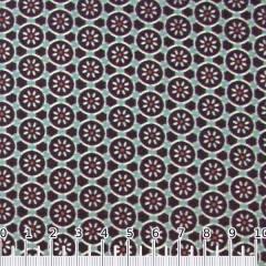 Tecido Tricoline Flores Mosaico - Azul