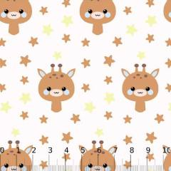 Tricoline Baby Lunar Girafinhas - Amarelo
