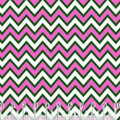 Tecido Tricoline Chevron Pan - Rosa Pink - 100% Algodão - Largura 1,50m