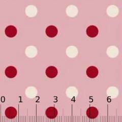 Tecido Tricoline Poá Pan G Dual Color - Rosa