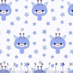 Tricoline Baby Lunar Girafinhas - Azul
