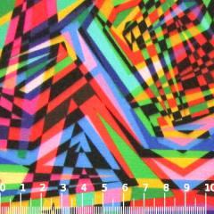 Tecido Gorgurinho Digital - Festa Vintage Colorido