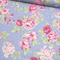 Percal 130 Fios Estampado - Floral Mesclado - Rosa