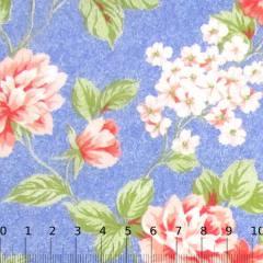Percal 130 Fios Estampado - Floral Mesclado - Laranja
