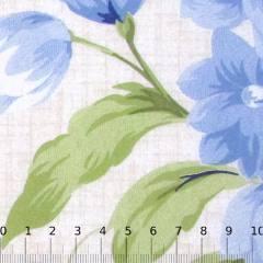 Percal 130 Fios Estampado - Floral Riscado - Azul