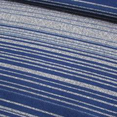 Tecido Percal 130 Fios Estampado - Multi Listras - Azul