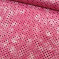 Tecido Tricoline Poá Manchado - Rosa