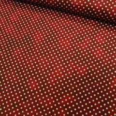 Tecido Tricoline Poá Manchado - Vermelho