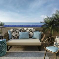 Tecido Impermeável Acquablock® Karsten - Resort - 72% Algodão 28% Poliéster - Largura 1,40m