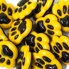 Botão Infantil Patinhas - Amarelo e Preto (12 unidades)