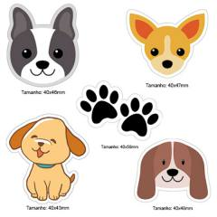 Kit Patches Termocolante - Kit 22 Dogs - 5 unidades
