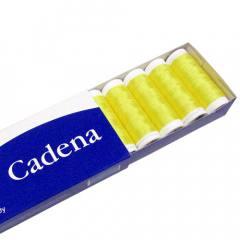 Linha Para Costura Cadena - Amarelo Ouro (COR: 0018) Caixa c/ 10 Un.