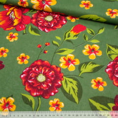 Tecido Chita Floral Angers - Verde