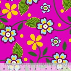 Tecido Chita Floral Colmar - Rosa