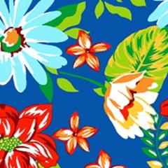 Tecido Chita Floral Delfos - Azul - 100% Algodão - Largura 1,40m