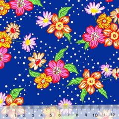 Tecido Chita Floral Lille - Azul