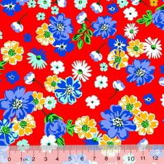 Tecido Chita Floral Reims - Vermelho