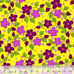 Tecido Chita Floral Toulon - Amarelo