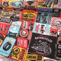 Tecido Jacquard Decor - Garagem - Colorido