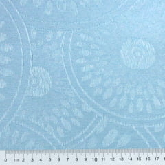 Tecido Jacquard Decor Largo - Formas Circulares - Azul Claro (Largura: 2,80 m)