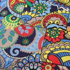 Tecido Jacquard Decor - Mosaico Colorido - Azul - 58% Algodão 42% Poliéster - Largura 1,40m