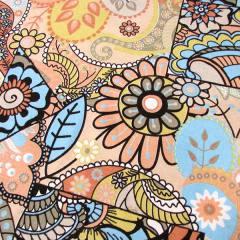 Tecido Jacquard Decor - Mosaico Colorido - Salmão