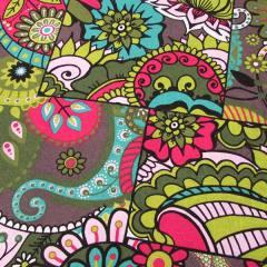 Tecido Jacquard Decor - Mosaico Colorido - Verde