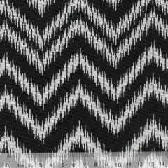 Tecido Jacquard Decor Soft Dupla Face - Chevron Frame - Preto e Branco