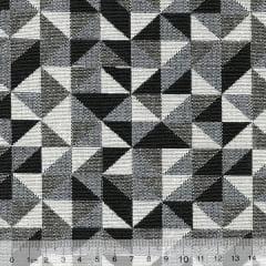 Tecido Jacquard Decor Soft - Geométrico - 58% Algodão 42% Poliéster - Largura 1,40m