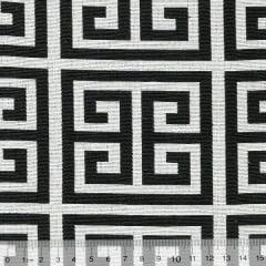Tecido Jacquard Decor Soft - Labirinto - 58% Algodão 42% Poliéster - Largura 1,40m