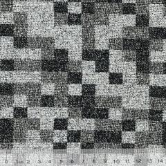 Tecido Jacquard Decor Soft - Pixel - 58% Algodão 42% Poliéster - Largura 1,40m
