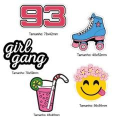 Kit Patches Termocolante - Kit 08 Girl Gang - 5 unidades