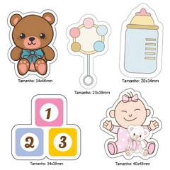 Kit Patches Termocolante - Kit 23 Baby Girl - 5 unidades