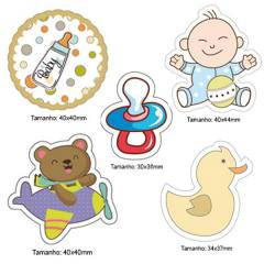 Kit Patches Termocolante - Kit 24 Baby Boy - 5 unidades