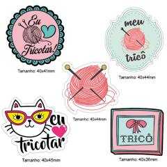 Kit Patches Termocolante - Kit 27 Tricô - 5 unidades