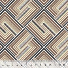 Percal 130 Fios Geometria Stilus - Bege