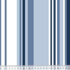 Percal 130 Fios Listras Tamanhos - Azul
