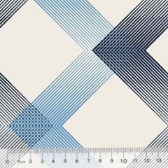 Tecido Percal 130 Fios Stripes Multi - Azul