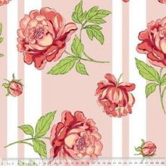 Tecido Percal 230 Fios Estampado - Coleção Floral Ref 01 - 100% Algodão - Largura 2,50m