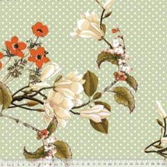 Percal 230 Fios Estampado - Coleção Floral Ref 02