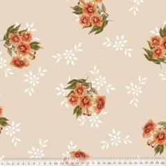 Tecido Percal 230 Fios Estampado - Coleção Floral Ref 05 - 100% Algodão - Largura 2,50m