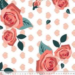 Tecido Percal 230 Fios Estampado - Coleção Floral Ref 07 - 100% Algodão - Largura 2,50m