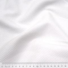 Tecido Piquet Favinho - Colmeia Menor - Branco