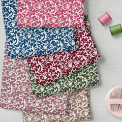 Kit Fat Quarter - Coleção Composê Ideal - Arabescos (6 Cortes de 50 cm x 75 cm)
