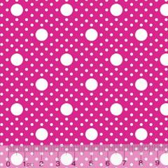 Tecido Tricoline Alg. Poá Tamanhos - Rosa Pink